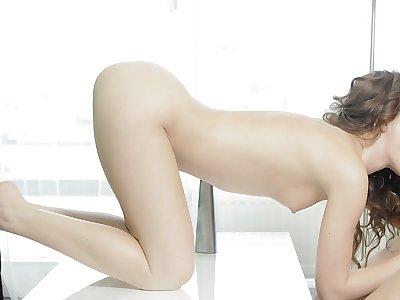 Super-sexy pornography vid showcasing a duo plumbing